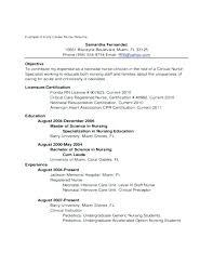 New Grad Nurse Resume Examples Resume Template Directory