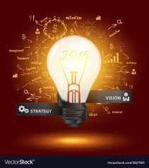 creative lighting ideas. Creative Light Bulb With Drawing Charts And Graphs Vector Image Lighting Ideas E