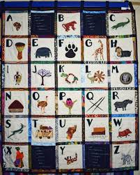 Alphabet Chart Abc African Theme Quilt Letters Wall Hanging Nursery Decor Abc Wall Hanging Childrens Wall Hanging Art Quilt