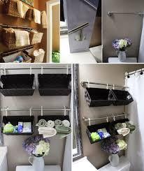 Wall Storage Bathroom Diy Projects Diy Wall Full Of Baskets Bathroom Storage Idea