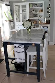 Superb Love This Modified Ikea Island! The Granite Looks So Nice And The White  Chairs Look Nice TooSouthern Colonial   Ikea Stenstorp Makeover With Marble  Top And ...
