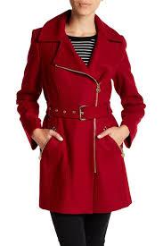 Nordstrom Rack Petite Coats MICHAEL Michael Kors Asymmetrical WoolBlend Coat Petite 16