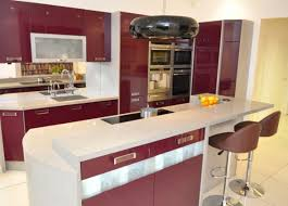 Kitchen With Red Appliances Red Cabinetry With Panel Appliances Also In Modern Kitchen Design