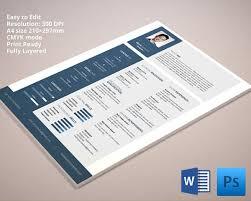 desigenr resume template psd resume templates
