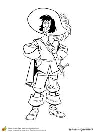 Coloriage Des 3 Mousquetaires D Artagnan