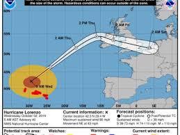 Weather Us Model Charts Us Hurricane Center Weather Charts Show Lorenzo Picking Up