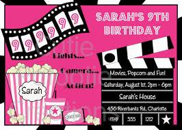 Movie Night Invitation Templates Movie Ticket Invitation Template Free Printable Oddesse Info
