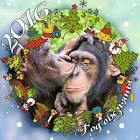 Новогодняя маска на конкурс год обезьяны