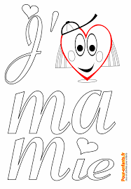 F Te Des Mamies Grands M Res Coloriage J Aime Mamie Imprimer