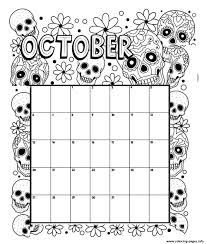 Check out our october coloring selection for the very best in unique or custom, handmade pieces from our coloring books shops. October Coloring Calendar Coloring Pages Printable