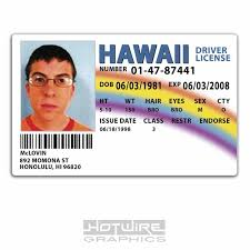 Drivers tv Id amp; Film 620444489751 Superbad License Mclovin Prop Replica - Ebay Card Plastic