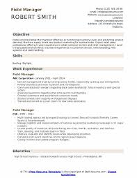 Field Manager Resume Samples Qwikresume