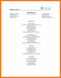 Example Reference Page For Resume Resume Reference Sheet Resume