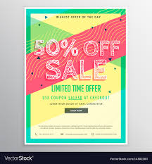 Marketing Brochure Templates Discount Sale Brochure Template For Marketing Vector Image