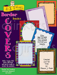 Cover Page For Project Printable Clip Art Borders For Cover Pages Projects By Dj Inkers