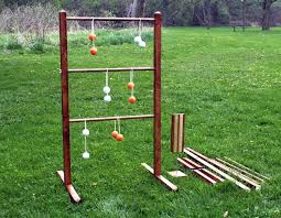 ladder ball game set with tote wooden ladderball game ladder golf ball bolas scoreboard ladder toss ladderball set yard game lawn game