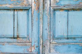 old door tree wooden background wood old old paint blue background wall structure closed door