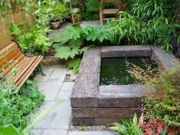to build a raised pond with railway sleepers