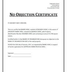 letter of non objection non objection certificate for job lscign