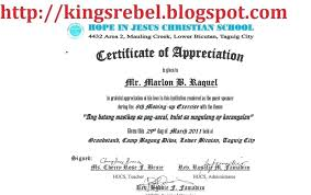 Certificate Of Appreciation Speaker Sample For Speakership