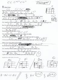 8 Billie Ellish Guitar Chord Chart Capo 3rd Fret In 2019