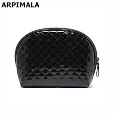 arpimala 2017 women cosmetic bag patent leather makeup bag quilted shell beauty case necessaries clutch organizer