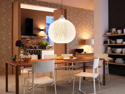 Funky Dining Room Lighting For Low Ceiling With Unique Wall Art