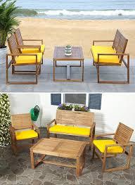 4 piece farmhouse patio furniture set