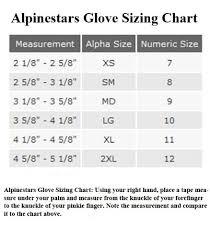 Alpinestar Tech 3 Size Chart Alpinestars Tech Road Gore Tex Motorcycle Gloves