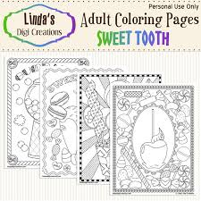 My little pony coloring printable. Sweet Tooth Printable Adult Coloring Pages Linda S Digi Creations Online Store Powered By Storenvy
