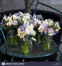Dekoration Der Esstisch Bouquet Von Weißen Narzissen In Vase Aus