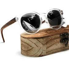 ablibi vintage round bamboo wood polarized sunglasses reflective mirrored cat eyeglasses for men womens polaroid wooden glasses