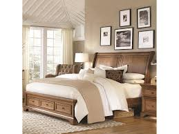 Low platform beds with storage Natural Wood Storage Walnut Creek King Low Profile Sleigh Storage Bed By Highland Court Morris Furniture Highland Court Walnut Creek King Low Profile Sleigh Storage Bed