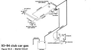 gas club car wiring diagrams 93~94 club car gas starter circuit