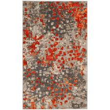 safavieh monaco gray orange 3 ft x 5 ft area rug