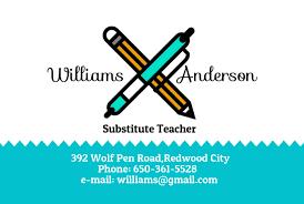 Business Card Template For Teachers Matograph Studio