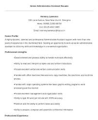 Career Summary For Administrative Assistant Resume Lupark Co