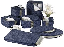 Amazon.com - Homewear 8-Piece HUDSON DAMASK China Storage ... & Amazon.com - Homewear 8-Piece HUDSON DAMASK China Storage Container Set,  Navy - Kitchen Storage And Organization Products Adamdwight.com
