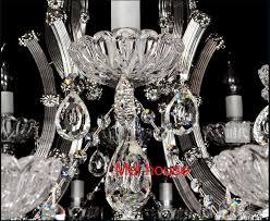 modern crystal chandelier light chrome finish luxury