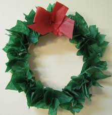 Paper Crafts For Christmas How To Make A Wreath Paper Plate Tissue Paper Diy Holiday Wreath