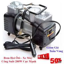 bơm điện 220v - máy nén khí - bơm hơi ô tô - bơm hơi xe máy - dùng điện  220v và 12v đều được,máy bơm hơi giá rẻ