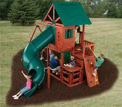 swing n slide southampton wooden swing set kit back
