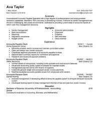 Accounts Payable Resume Simple Resume Examples Accounts Payable Resume Examples Pinterest