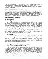 Impress your clients with this free statement of work template for word and complement this document with other word templates that are part of the red design set by downloading them from the link given below. Statement Of Work Template 13 Free Pdf Word Excel Documents Download Free Premium Templates
