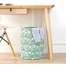 new cartoon animal dirty clothes basket cotton linen laundry kid toy organizer barrel bra storage in wire laundry basket