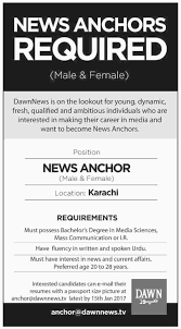 Resume For Anchor Job Best of News Anchor Jobs In Dawn News 24 Jan 24