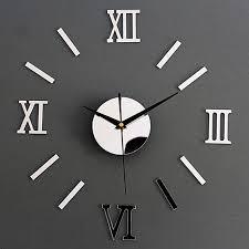 bulk order rebate acrylic roman numerals wall clock