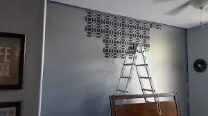 Small Picture Master Bedroom Stencil Accent Wall Hometalk