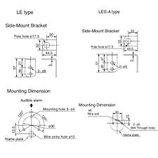 led andon light tower stack lights 50mm dia patlite le les a mounting diagram