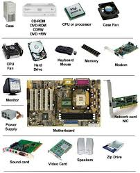 picture of a computer simple image which shows the parts of a computer that we scrap for